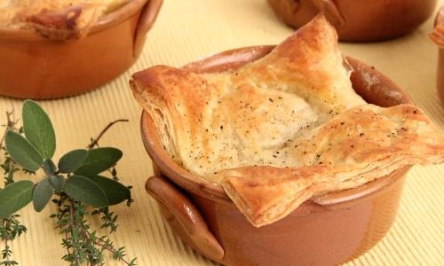 Mini Turkey Meatball Pot Pies