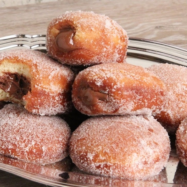 Bomboloni with Nutella