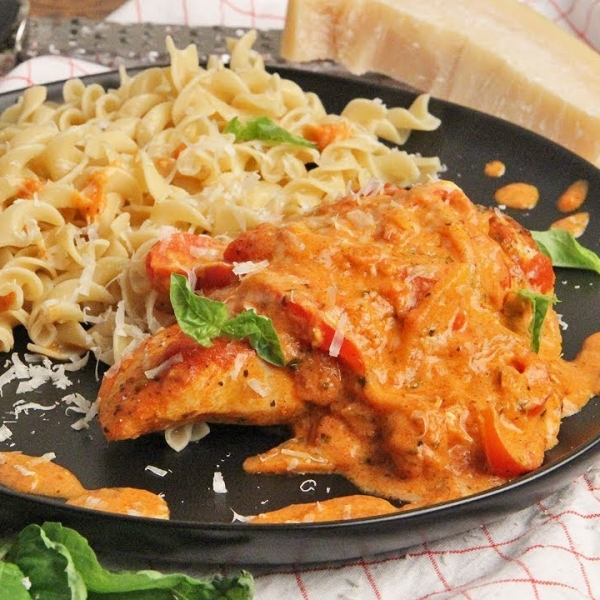 Chicken with Creamy Parmesan Sauce