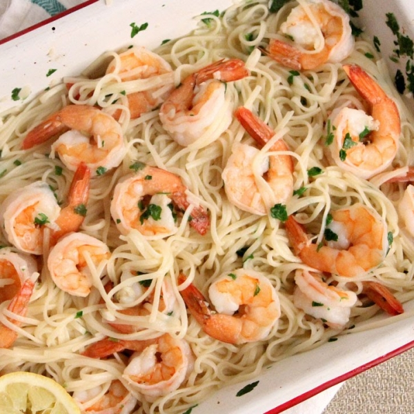 Roasted Shrimp Scampi
