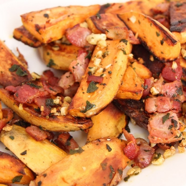 Skillet Roasted Sweet Potatoes
