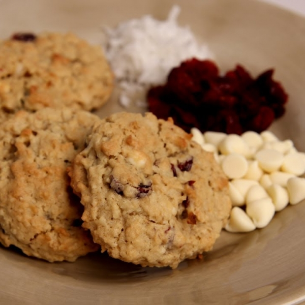 White Chocolate Cranberry Coconut Cookies